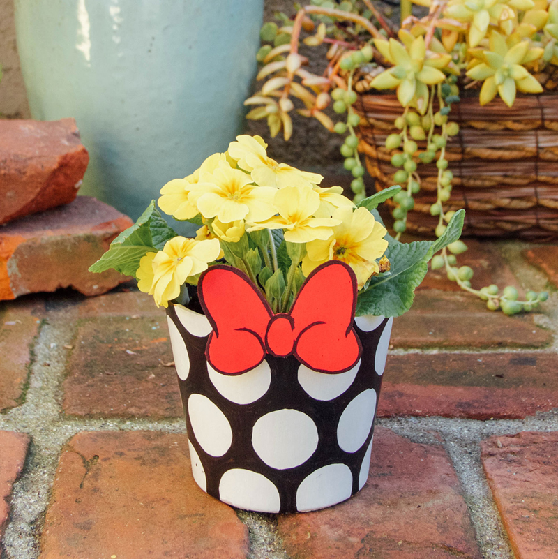 DIY Minnie Mouse Inspired Garden