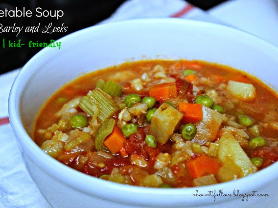 Vegetable Soup with Barley and Leeks