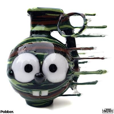Camo Bomb Spongrenade Custom Figure by Josh Mayhem x Nathan Clearly x Pobber