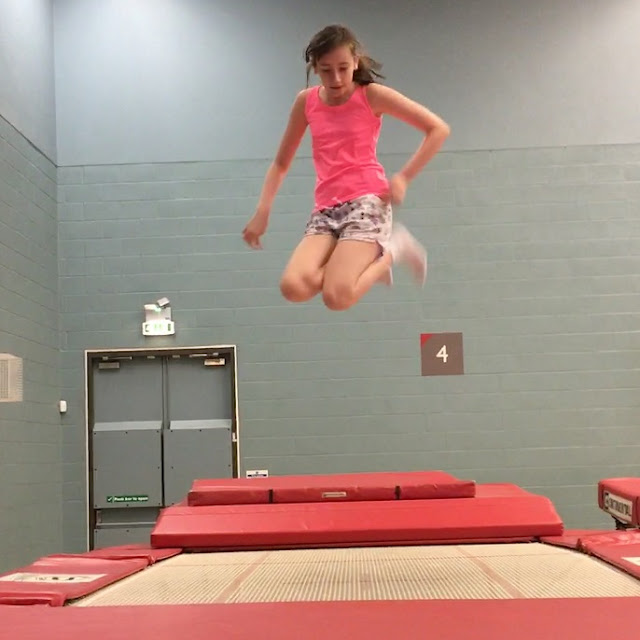 stephs two girls trampolining