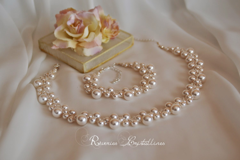 parure deux pièces en perles