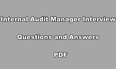 Internal Audit Manager Interview Questions and Answers PDF