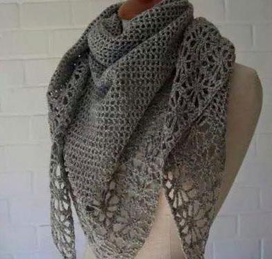 Patrón #1430: Bufanda a Crochet
