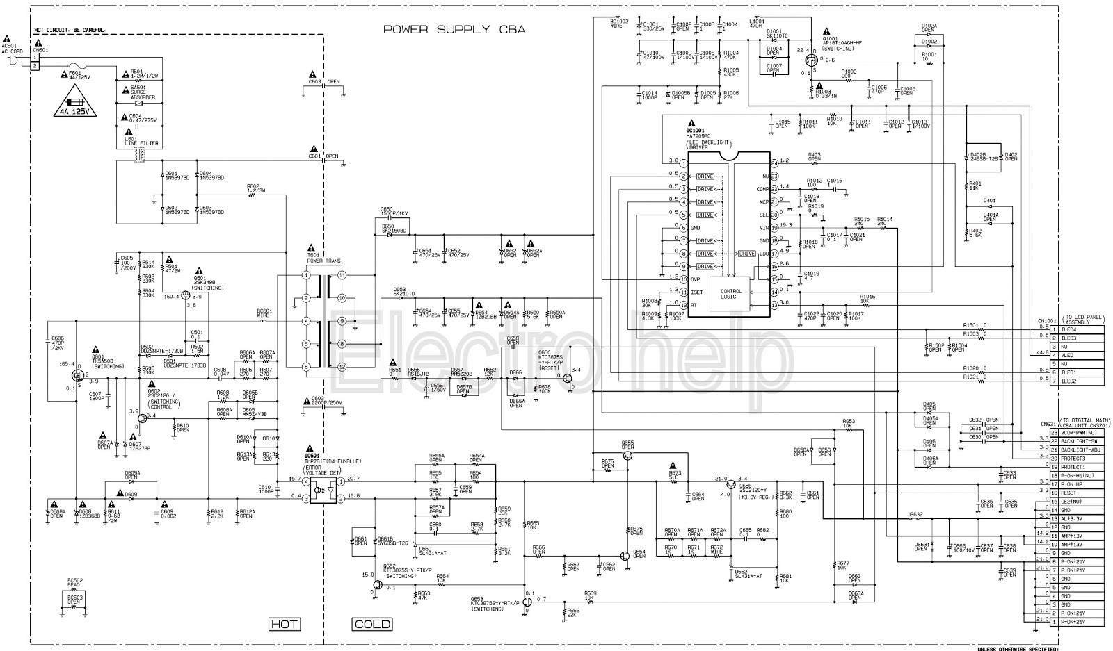 Power Cord Schematics