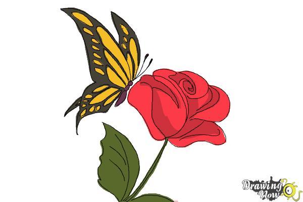 17 Gambar Cara Lukis Bunga