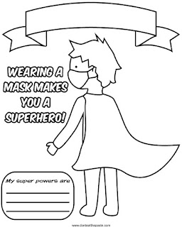 Superheroes wear masks coloring page- part of a series, available in png and jpg #coloringpages #Covid19