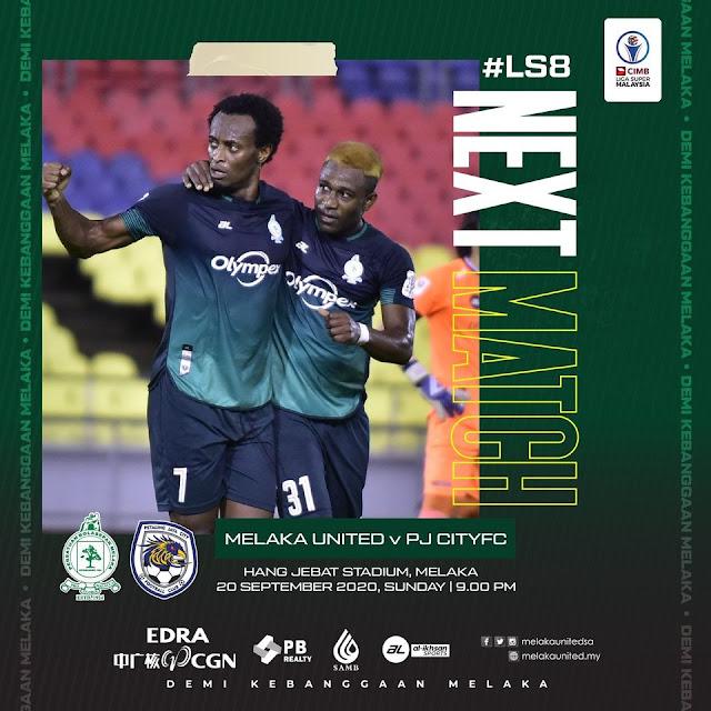 Live Streaming Melaka vs PJ City Liga Super 20.9.2020