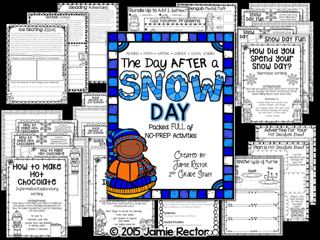This is the perfect resource pack to have prepped and ready for the day after an unexpected snow day.