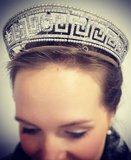 lady allan cartier pearl diamnd meander tiara