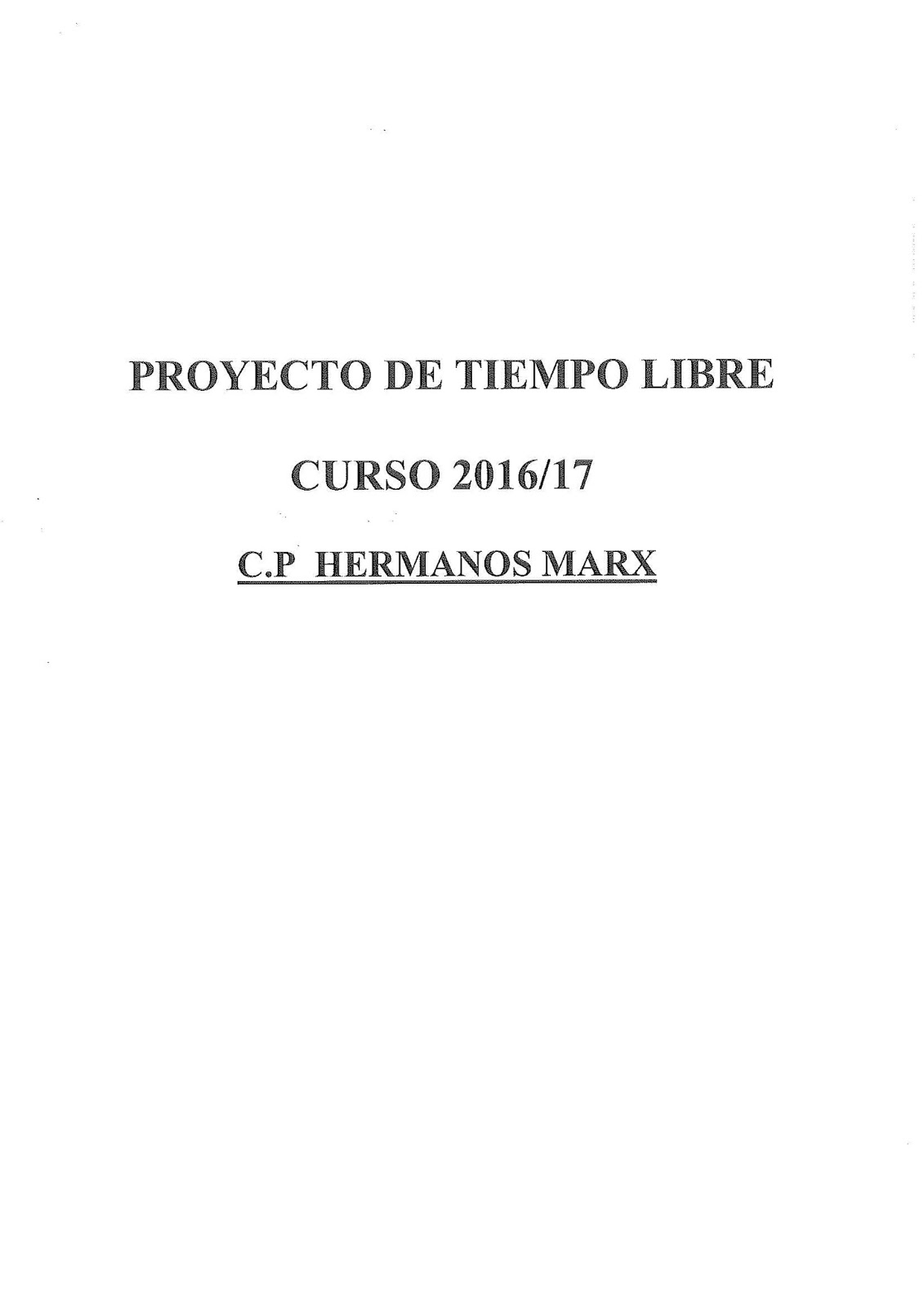 Ampa hermanos marx reuni n informativa comedor escolar proyecto 16 17 - Proyecto de comedor escolar ...