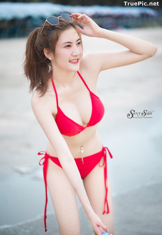 Image Thailand Model - Nitchakan Thongruangkitti - Red Fern Bikini - TruePic.net - Picture-3