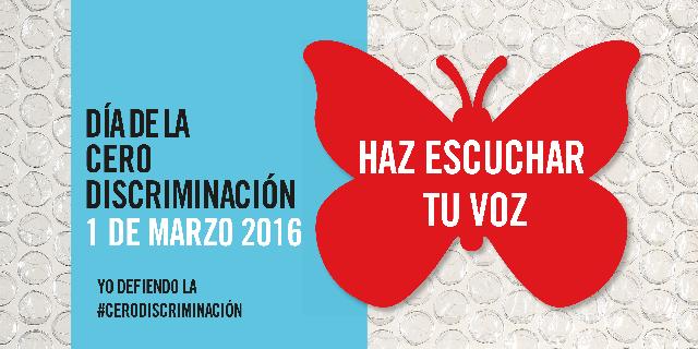 El 1 de marzo, Día de la Cero Discriminación