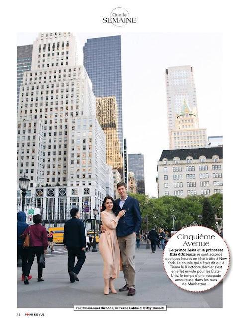Prince Leka and Elia Zaharia in Manhattan
