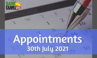 Appointments on 30th July 2021