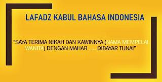 kalimat ijab dan kabul  bahasa indonesia