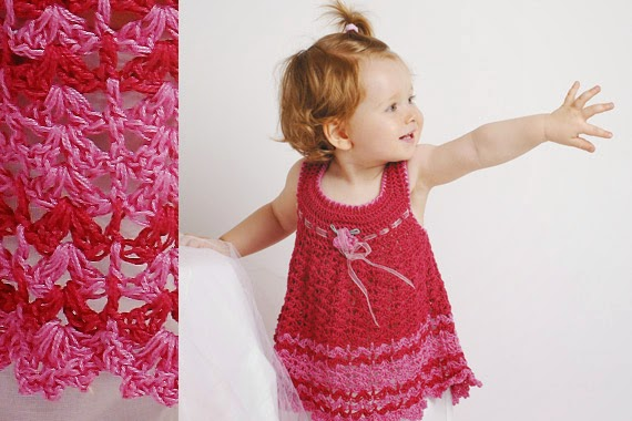 Vestido de Bebé a Crochet