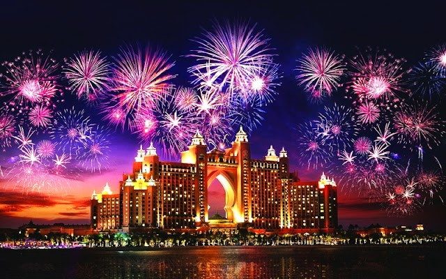 2021 new year احتفالات دبي