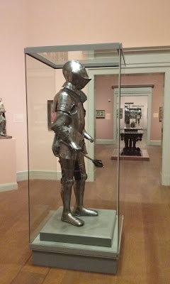 Suit of armor on display in the Renaissance galleries