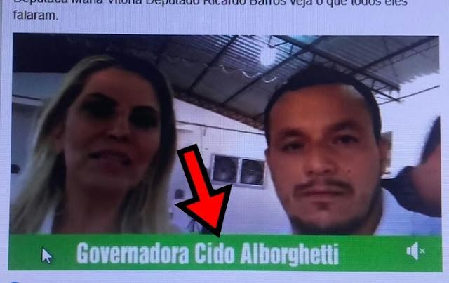 """Enquanto isso em Iretama, governadora """"Cido Alborghetti""""?"""