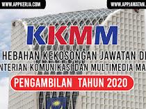 Jawatan Kosong Terkini di Kementerian Komunikasi Dan Multimedia Malaysia (KKMM)