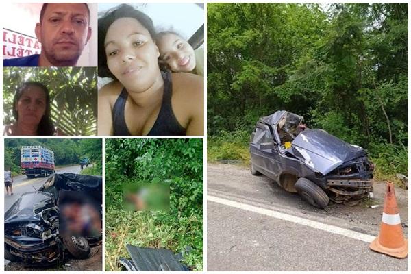 VÍDEO: Vítimas de acidente entre caminhão e carro na BR-030 em Caetité São identificadas