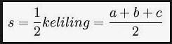 Cara menghitung rumus luas segitiga lengkap dengan contoh soal