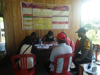 Bhabinkmatibmas Polsek Maiwa pantau pelaksanaan Vaksinasi di Desa Pasang