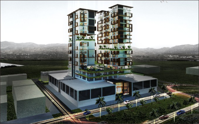 desain apartemen konsep green living
