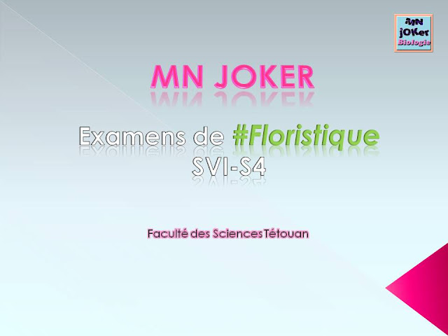 Examens De Floristique Svi S4 Biologie Maroc