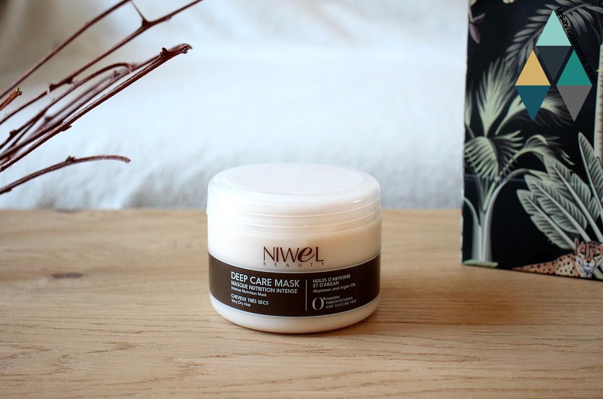 avis masque nutrition intense deep care mask niwel cheveux très secs