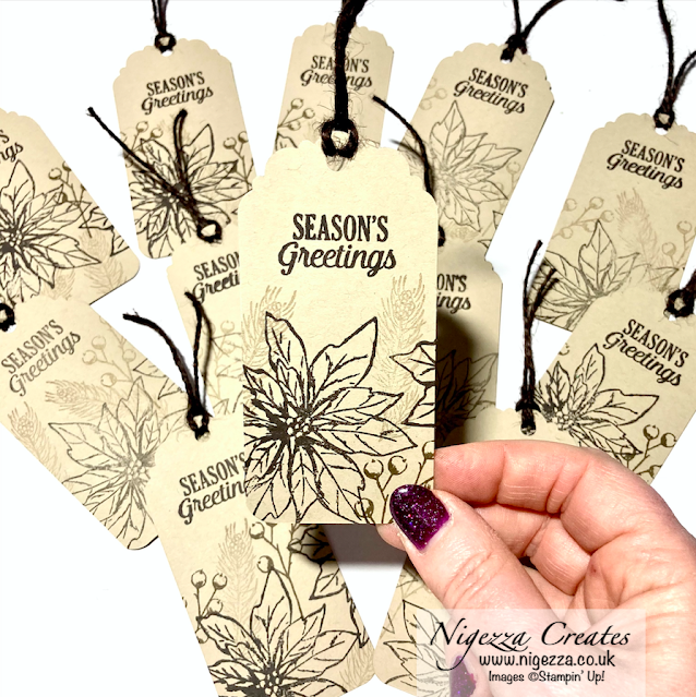Snowy Christmas Quick & Easy One Sheet Tags