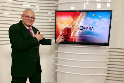 """Na imagem: Valdo Souza no comando do """"SBT Pará"""". Crédito: Divulgação"""