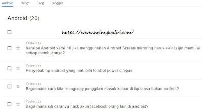 menggunakan google hub question
