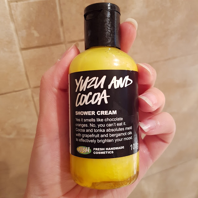LUSH yazu and cocoa shower cream | Almost Posh