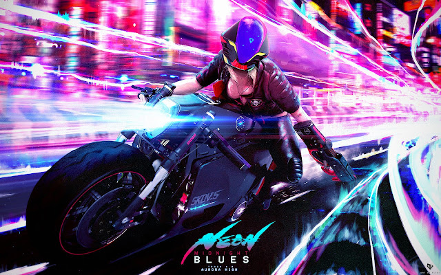 Neon Midnight Blues by Nelson Tai