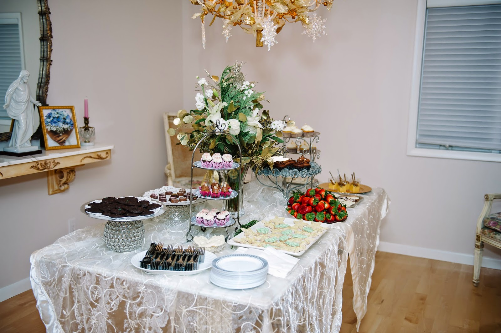 Gluten-Free Dessert Wedding Reception Table