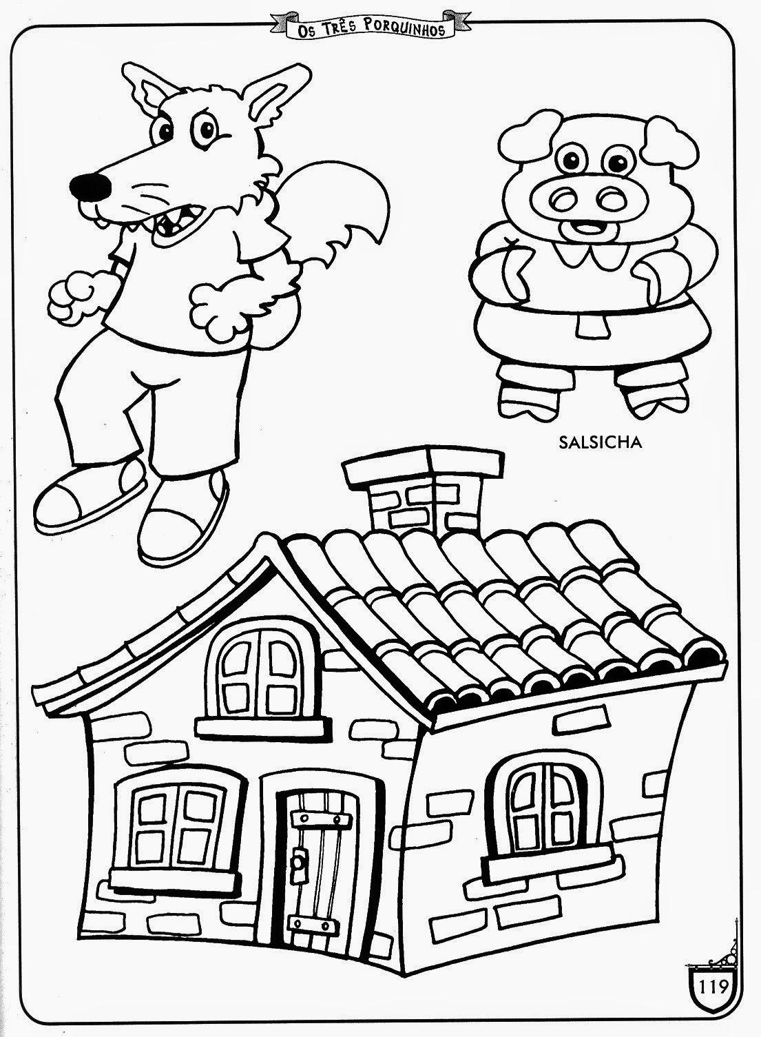 Desenho Dos 3 Porquinhos Completo