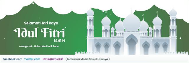 Desain Banner Hari Raya Idul Fitri 2020