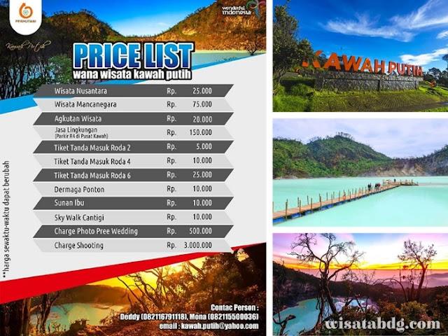 Harga Tiket Masuk Terbaru dan Nomor Kontak Wisata Kawah Putih Ciwidey