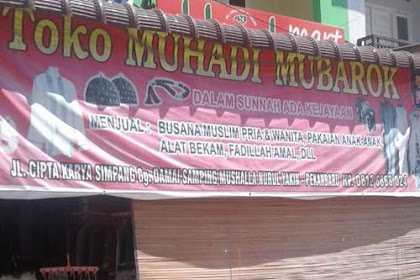 Lowongan Toko Muhadi Mubarok Pekanbaru September 2019