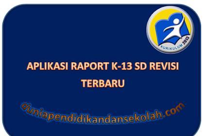 Aplikasi Raport Format Excel Kelas 4 Semester 2 Kurikulum 2013 Revisi 2017