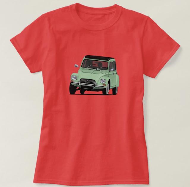 Citroën Dyane 6 shirts in many colours