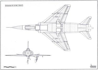 HF-24 Marut Aircraft Indian Air Force IAF - 010 - TN