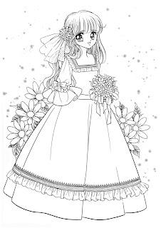 بنت جميلة ترتدى فستان وحولها زهور