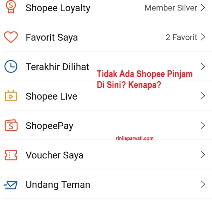 Spinjam Shopee Hilang