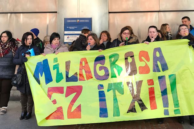 Protesta de La Milagrosa ante el Gobierno Vasco