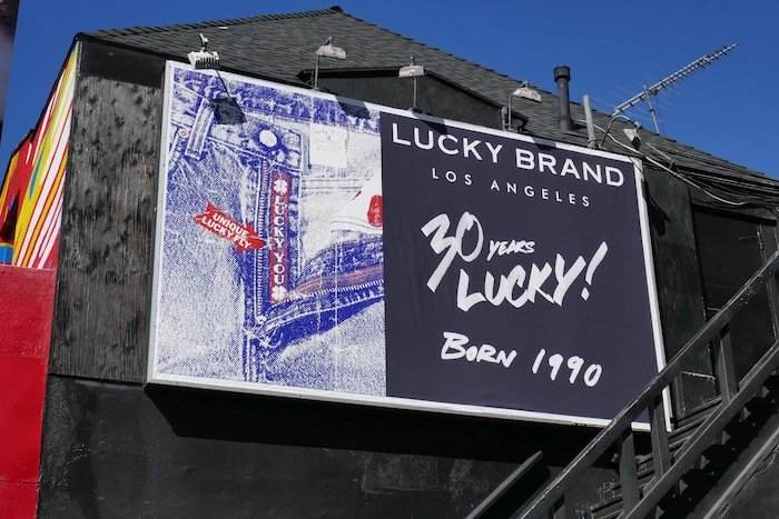 30 years Lucky Brand Jeans billboard