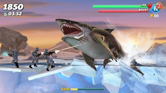 pada kesempatan kali ini admin akan membagikan sebuah game mod apk terbaru yang bergenre  Hungry Shark World v2.6.0 Mod Apk+Data (Unlimited Money)
