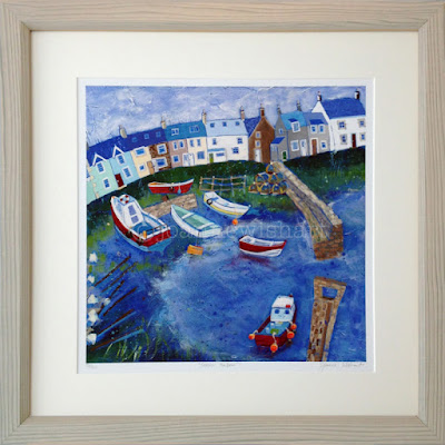 Craster, Craster Harbour, Harbour painting, Northumberland Picture, Fishing Village, North East Coast, Coastal art, paintings of Northumberland