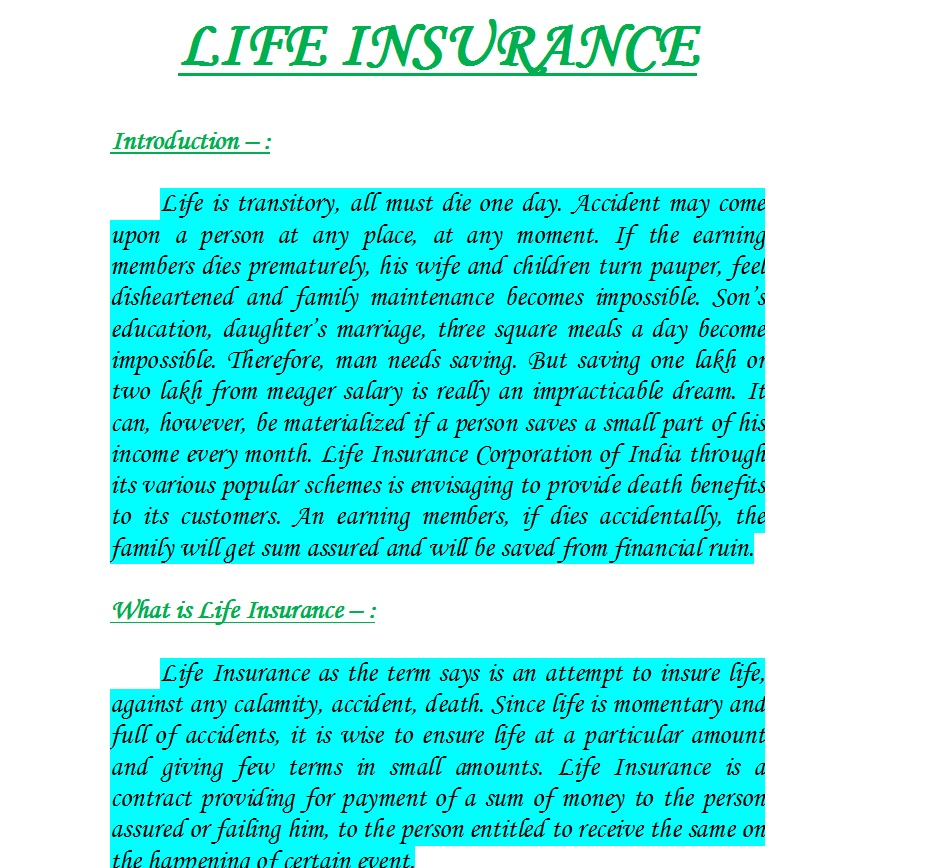 Life Insurance Research Papers - blogger.com